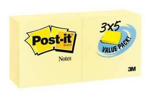 Sticky Notes 3x5 In yellow pk24 Post it 655 24vad