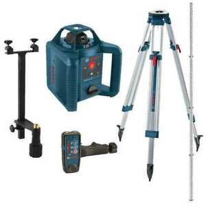 Rotary Laser Level self leveling 800 Ft Bosch Grl 245 Hvck