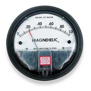Dwyer Magnehelic Pressure Gauge 0 To 6 In H2o Dwyer Instruments 2006