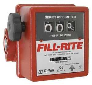 Fill rite 807c 5 20 Gpm 50psi 3 wheel Mechanical Fuel Transfer Meter
