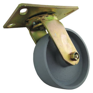 Swivel Plate Caster cast Iron 6 In 1750 Lb a 1nvu2