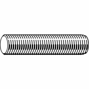Fabory U20200 125 7200 1 1 4 7 X 6 Plain Low Carbon Steel Threaded Rod