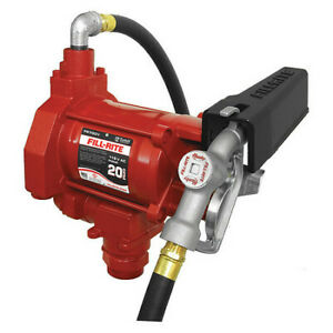 Fill rite Fr700v 20gpm 1 3hp 115 Vac Fuel Transfer Pump With Mechanical Meter