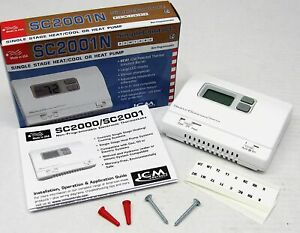 Icm Simple Comfort Non Programmable Wall Thermostat Sc2001n Heat cool Heat Pump