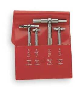 Telescoping Gage Set 4 Pc 2 375 In D Starrett S579gz