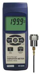 Reed Instruments Sd 8205 Vibration Meter datalogger Lcd Usb rs232
