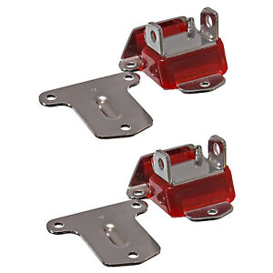 Early Sbc Bbc Engine Motor Mounts Polyurethane 2 3 8 Wide Red Chrome Pair