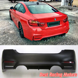 M4 F82 Style Rear Bumper 2 Outlets 2 Tips Outlet Fits 14 19 Bmw F32 F33