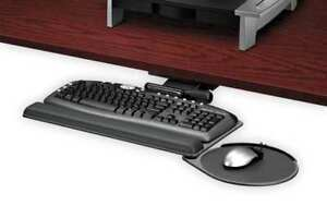 21 1 4 Keyboard Tray Graphite silver fellowes 8036001