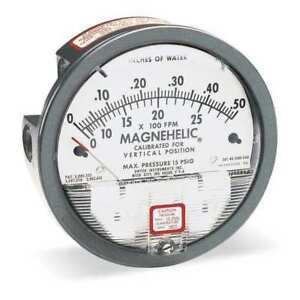 Dwyer Magnehelic Pressure Gauge 0 To 0 25 In H2o