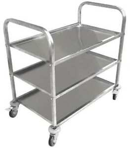 35zw26 Food Service Cart Stainless Steel 450 Lb