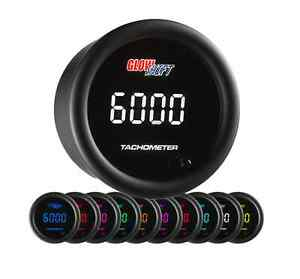 Glowshift 10 Color Digital Tachometer Gauge Gs Tcd10