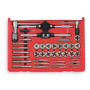 Tap And Die Set 40 Pc carbon Steel Vermont American 21749