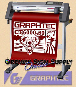 24 Graphtec Ce6000 60 Vinyl Plotter Cutter W Stand 2 Yr Wnty Or Best Offer