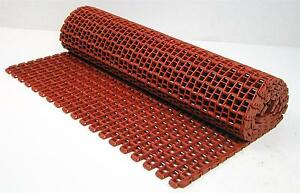 Conveyor Belt F52 1 2 X 1 2 Flat Wire Reinforced Nylon Red 25 5 W X 6 L