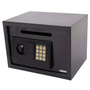 Security Box Digital Deposit Money Slot Cash Drop Safety Secur Key