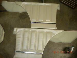 1968 Skylark Gs New Blem Rear Door Panels Coupe Pearl Unassembled 68 350