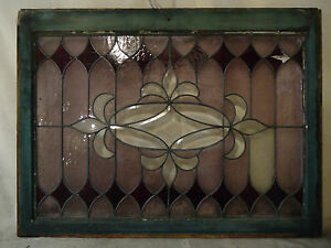 Vintage Antique Stained Glass Window Panel 2001 Ns