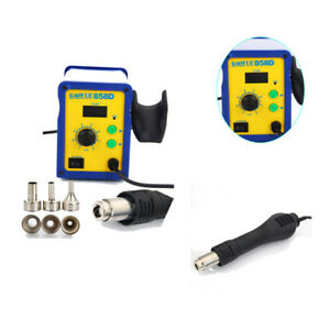 858d 110v Electric Smd Bga Rework Soldering Station Desoldering Hot Air Gun Kit