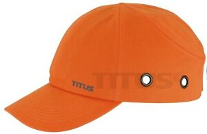 Titus High Vis Blaze Orange Bump Cap Safety Hard Hat Head Protection Hunting
