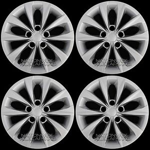4 New 2015 2018 Toyota Camry L Le 16 Wheel Covers Full Hub Caps Fit Steel Rim