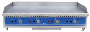 Globe Gg60tg 60 Thermostatic Control Counter Top Gas Griddle
