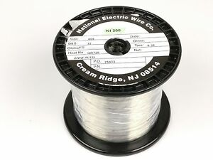 Pure Nickel Wire 32 Gauge 3 24 Lb 16 799 Ft Non Resistance Awg Ni200 Nickel 200