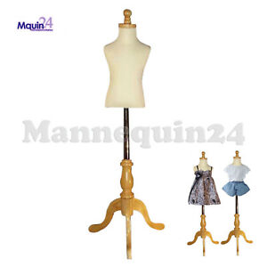 Kids Mannequin 1 2 Yrs Child Dress Form wooden Base