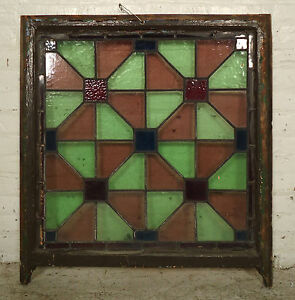 Vintage Stained Glass Window Panel 2034 Ns