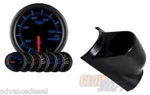 03 07 Ford Super Duty Glowshift Black 7 Color Oil Pressure Psi Gauge