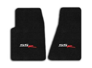 2003 2006 Chevrolet Ssr 2pc Black Sport Carpet Front Floor Mats With Ssr Logo