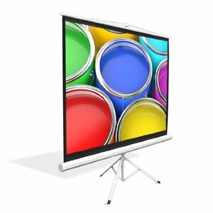 New Prjtp72 72 Floor Standing Portable Fold out Roll up Tripod Projector Screen