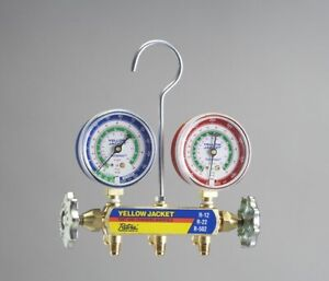 Yellow Jacket 41212 Refrigerant Manifold Gauges R12 22 502