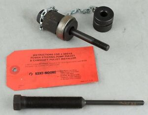 Kent Moore J 36014 1 J 36015 Gm Quad 4 P s Cam Pulley Installer Screw