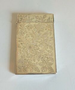 Nice Antique Sterling Silver Calling Card Business Card Case 50 Grams