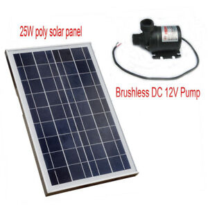 Solar Pump System Kit 25w Solar Panel Hot Water Circulation Brushless Pump Us
