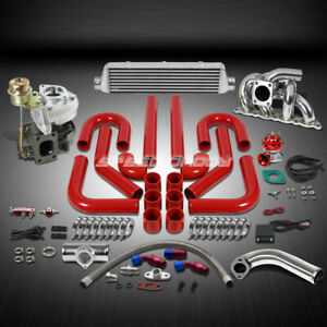 T25 t28 Td04 250hp 10pc Turbo Charger manifold downpipe Kit For 4g93 Mirage evo
