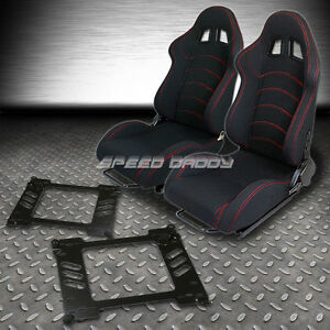 2 Type F1 Fully Reclinable Racing Seats Bracket For 92 95 Honda Civic Eg Ej1 Eh