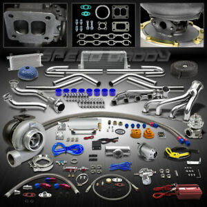Gt45 20pc Turbo Kit Turbocharger Manifold Cross Pipe 79 93 Ford Mustang 5 0l V8