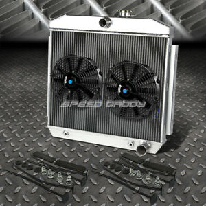 3 Row Aluminum Radiator 2x 10 Fan Kit For 55 57 Chevy Small Block 150 210 Sbc V8