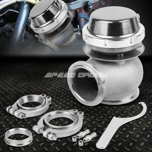 Universal External 14 psi 45mm Turbo charger V band Wastegate Wg W spring Silver