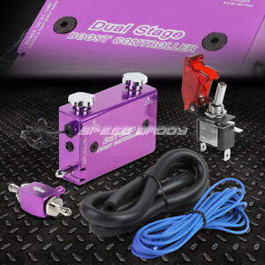 Purple Dual Stage Electronic Turbo turbocharger Psi Boost Controller w Switch