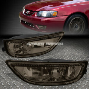 For 01 02 Toyota Corolla Smoked Lens Factory Style Bumper Driving Fog Light Lamp
