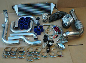 Honda Del Sol 93 97 D15 D16 Sir Turbo Kit Aluminum Intercooler Piping Kit Bov