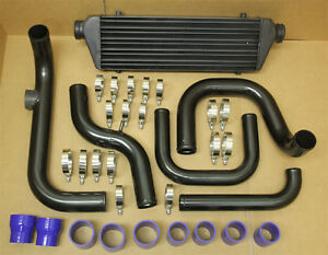 2 5 Inlet Civic Integra Bolt On Turbo Front Mount Intercooler Piping Kit Black