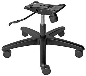 Super Duty Rated 450 Lbs Chair Under Seat Bottom Plate Cylinder Base 5 Casters