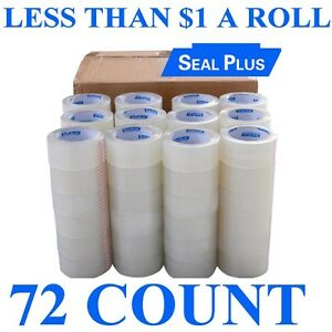 4 Box 18 72 Roll Sealplus 2 x110 Carton Sealing Packing Package Clear Tape