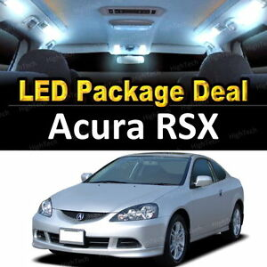 6x White Led Lights Interior Package Deal For 2002 2003 2004 2005 2006 Acura Rsx
