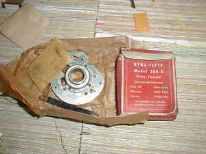 Nos Ford 1949 53 8 Cylinder Dual Point Distributor Breaker Plate Mercury Lincoln