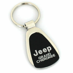Jeep Grand Cherokee Black Tear Drop Metal Key Ring